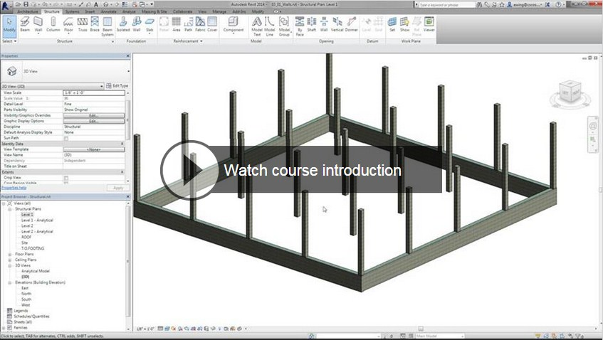 Lynda Creating Concrete Buildings with Revit Structure